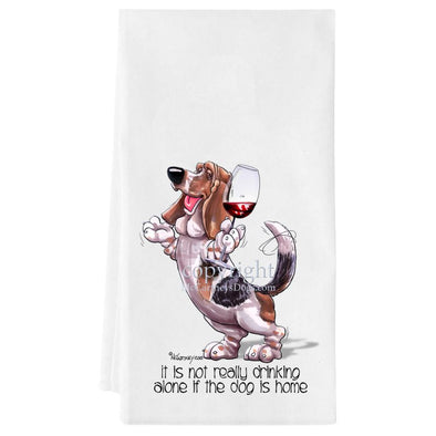 Basset Hound - It's Not Drinking Alone - Towel