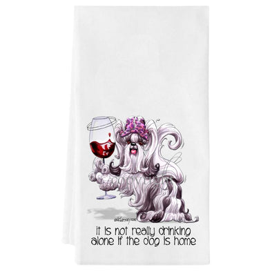 Shih Tzu - It's Not Drinking Alone - Towel