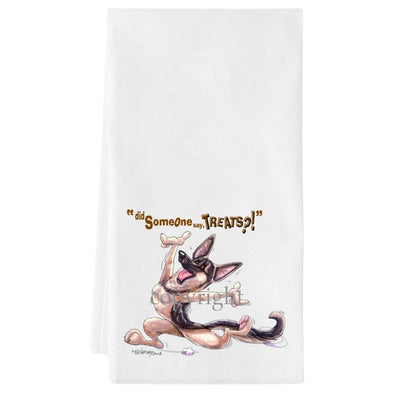German Shepherd - Treats - Towel