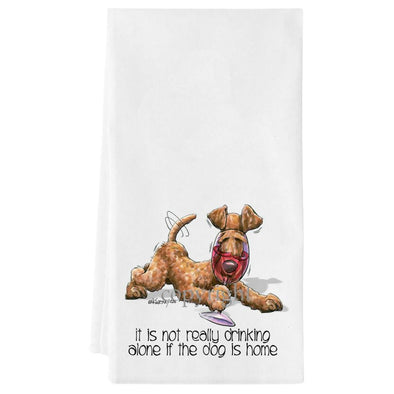 Irish Terrier - It's Not Drinking Alone - Towel