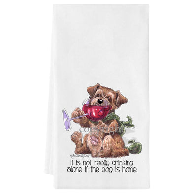 Norfolk Terrier - It's Not Drinking Alone - Towel