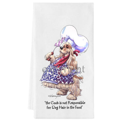 Cocker Spaniel - Fat Chefs - Towel