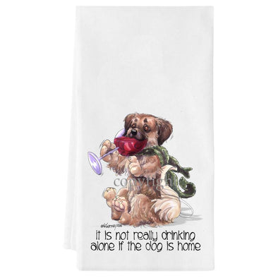 Tibetan Spaniel - It's Not Drinking Alone - Towel