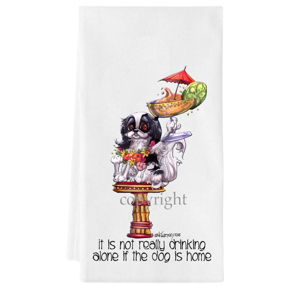Japanese Chin - It's Not Drinking Alone - Towel