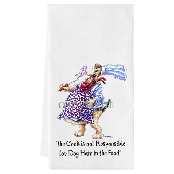 Airedale Terrier - Fat Chefs - Towel
