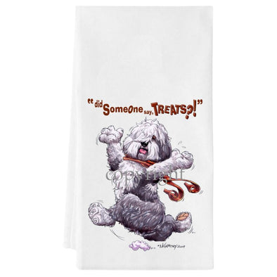 Old English Sheepdog - Treats - Towel