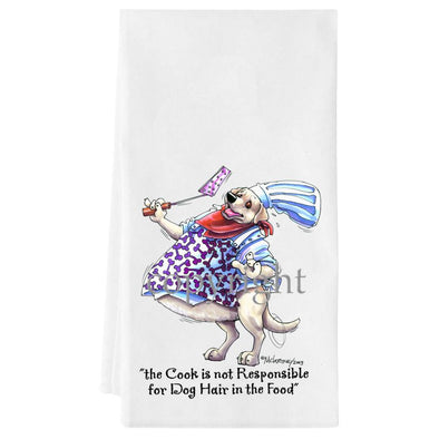 Labrador Retriever  Yellow - Fat Chefs - Towel