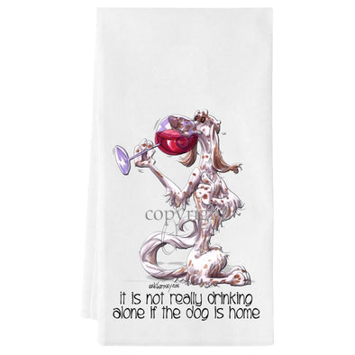 English Setter - It's Not Drinking Alone - Towel