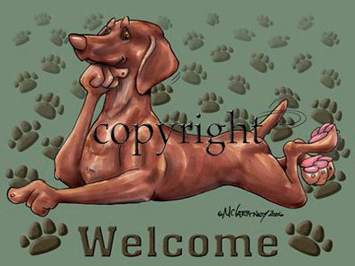 Vizsla - Welcome - Mat