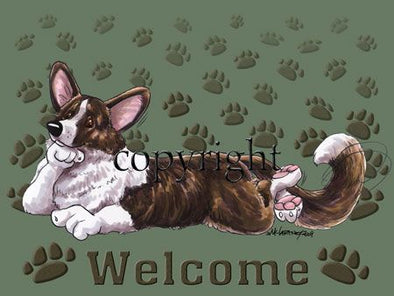 Welsh Corgi Cardigan - Welcome - Mat
