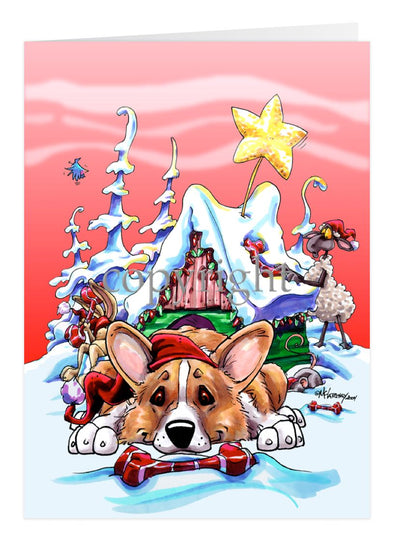 Welsh Corgi Pembroke - Doghouse - Christmas Card