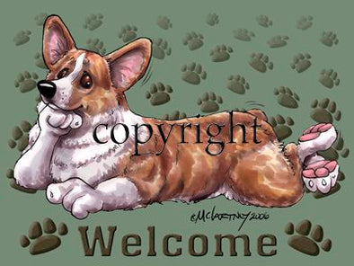 Welsh Corgi Pembroke - Welcome - Mat