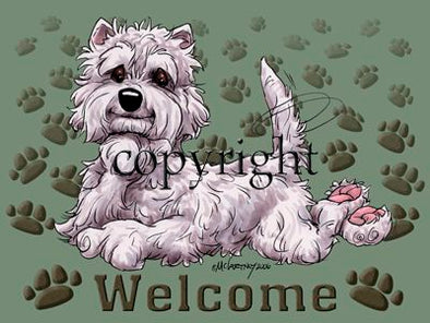 West Highland Terrier - Welcome - Mat