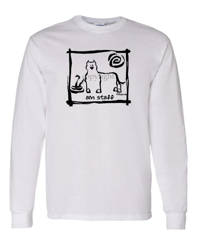American Staffordshire Terrier - Cavern Canine - Long Sleeve T-Shirt