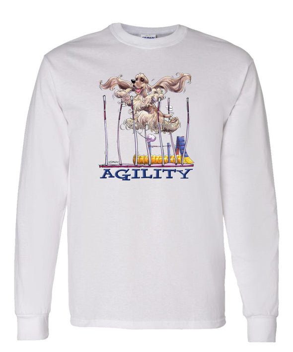 Cocker Spaniel - Agility Weave II - Long Sleeve T-Shirt