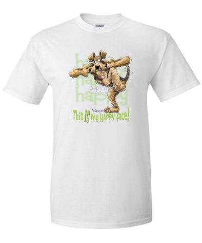 Airedale Terrier - 2 - Who's A Happy Dog - T-Shirt