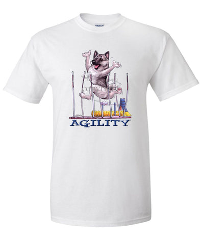 Norwegian Elkhound - Agility Weave II - T-Shirt