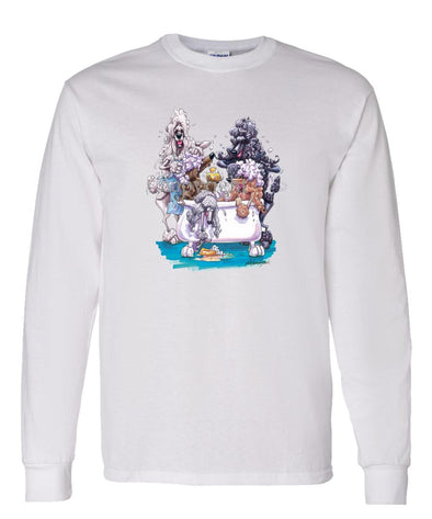 Poodle - Group Bathtub - Caricature - Long Sleeve T-Shirt