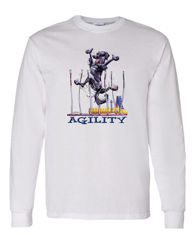 Flat Coated Retriever - Agility Weave II - Long Sleeve T-Shirt