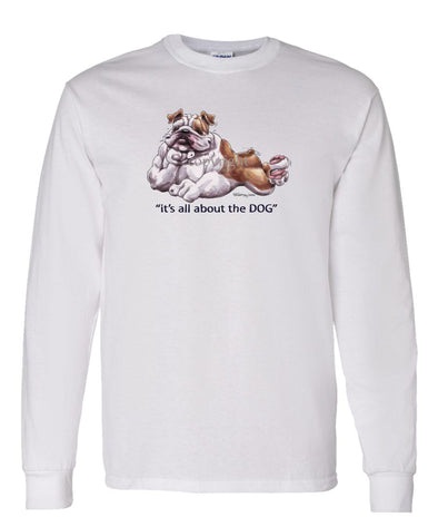 Bulldog - All About The Dog - Long Sleeve T-Shirt