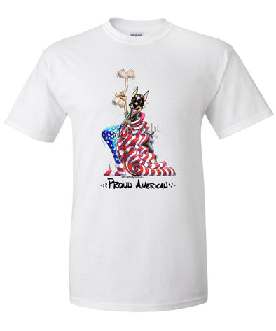 Miniature Pinscher - Proud American - T-Shirt