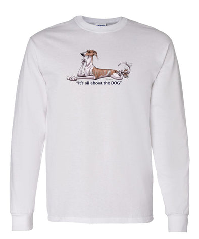 Whippet - All About The Dog - Long Sleeve T-Shirt