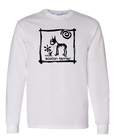 Boston Terrier - Cavern Canine - Long Sleeve T-Shirt