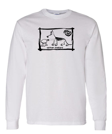 German Shepherd - Cavern Canine - Long Sleeve T-Shirt