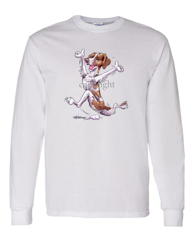 Brittany - Happy Dog - Long Sleeve T-Shirt