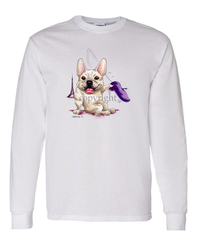 French Bulldog - Tipping Hat - Caricature - Long Sleeve T-Shirt