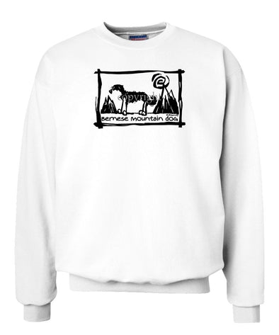Bernese Mountain Dog - Cavern Canine - Sweatshirt