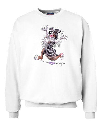 Australian Shepherd  Blue Merle - Happy Dog - Sweatshirt