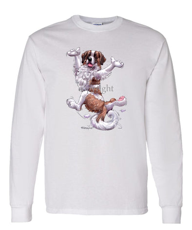 Saint Bernard - Happy Dog - Long Sleeve T-Shirt