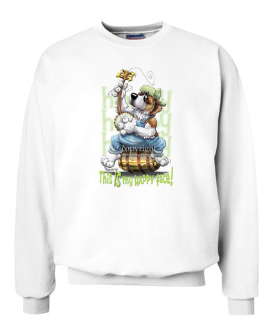 Saint Bernard - Who's A Happy Dog - Sweatshirt