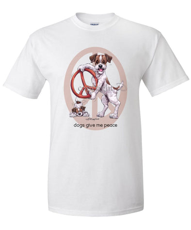 Jack Russell Terrier - Peace Dogs - T-Shirt