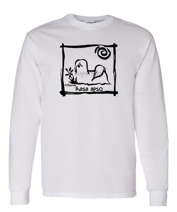 Lhasa Apso - Cavern Canine - Long Sleeve T-Shirt