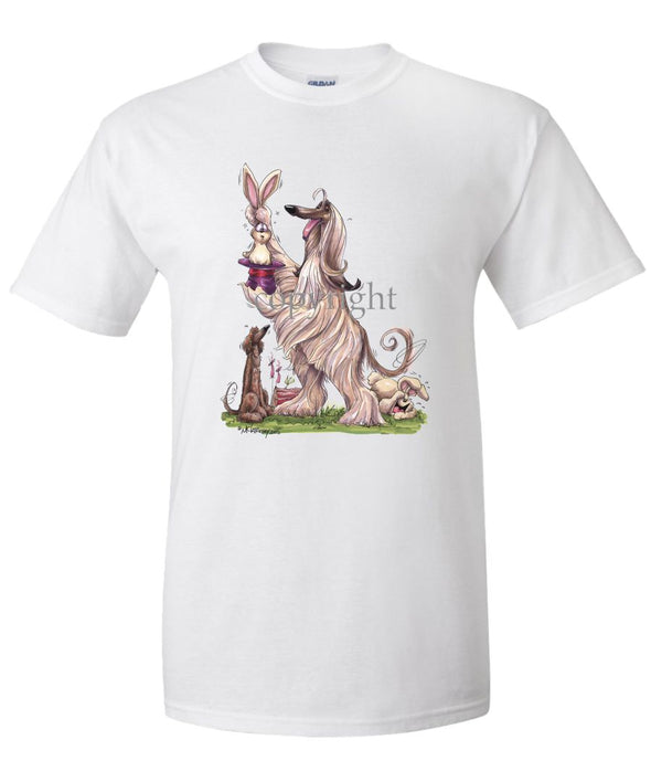 Afghan Hound - Pulling Rabbit Out Of Hat - Caricature - T-Shirt