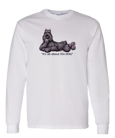 Bouvier Des Flandres - All About The Dog - Long Sleeve T-Shirt