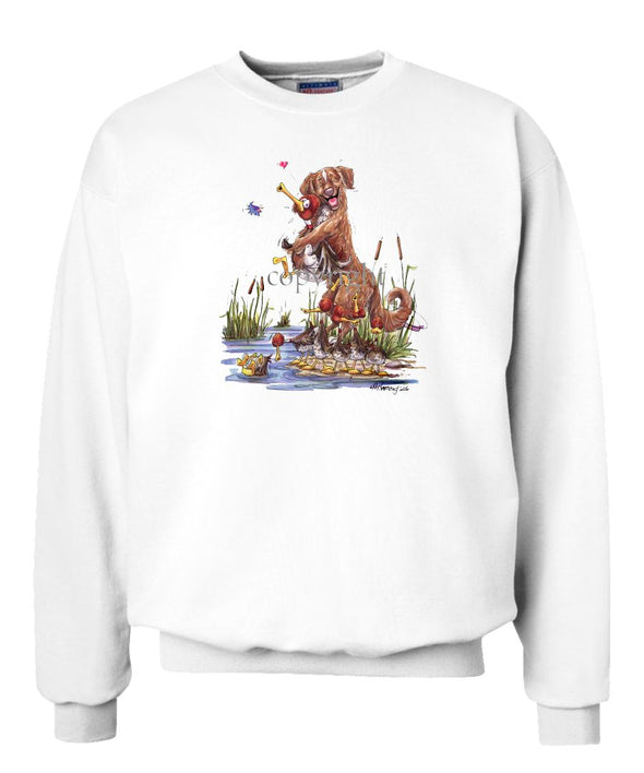 Nova Scotia Duck Tolling Retriever - Holding Duck - Caricature - Sweatshirt