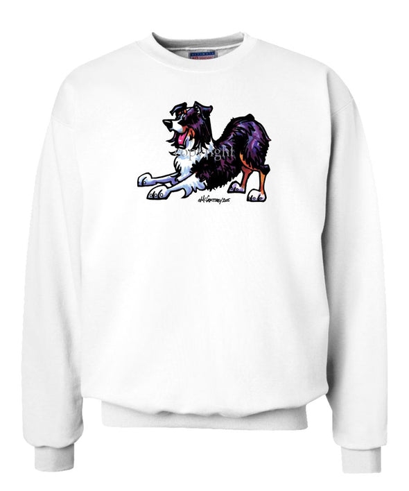 Australian Shepherd  Black Tri - Cool Dog - Sweatshirt