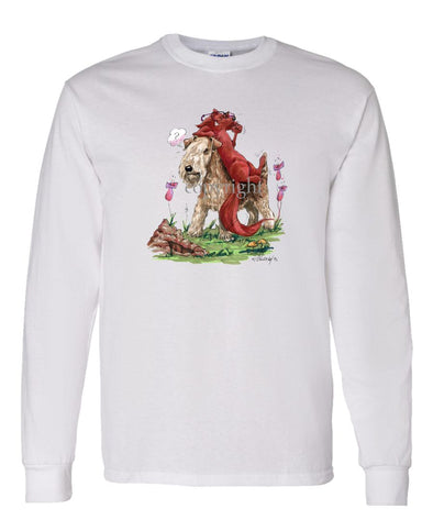 Lakeland Terrier - With Fox - Caricature - Long Sleeve T-Shirt