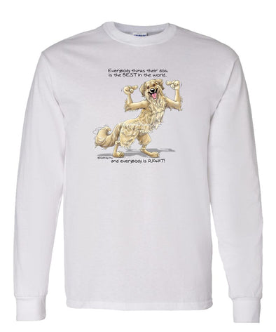 Golden Retriever - Best Dog in the World - Long Sleeve T-Shirt