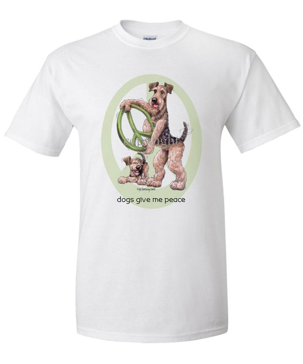 Airedale Terrier - Peace Dogs - T-Shirt