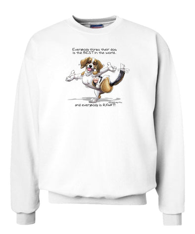 Beagle - Best Dog in the World - Sweatshirt