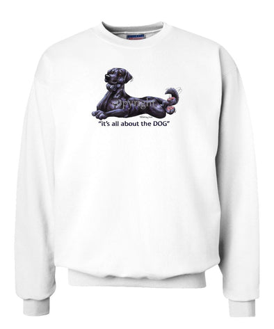Labrador Retriever  Black - All About The Dog - Sweatshirt