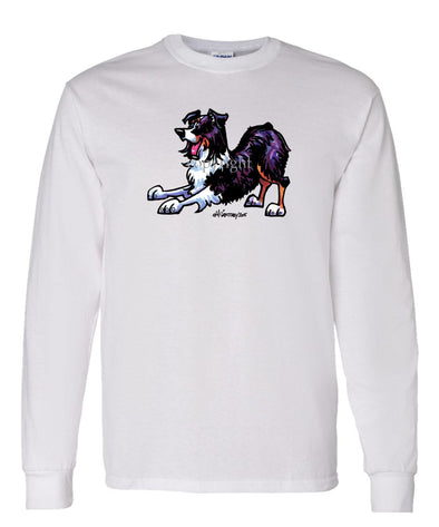 Australian Shepherd  Black Tri - Cool Dog - Long Sleeve T-Shirt