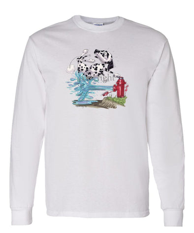 Dalmatian - Fire Hydren - Caricature - Long Sleeve T-Shirt