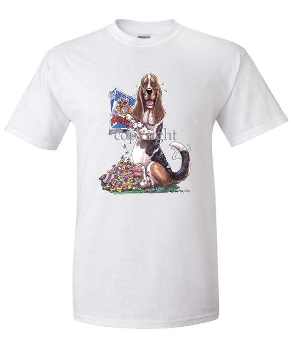 Basset Hound - Cereal Box - Caricature - T-Shirt