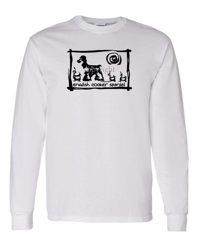 English Cocker Spaniel - Cavern Canine - Long Sleeve T-Shirt