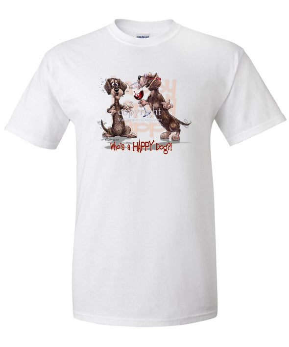Dachshund  Wirehaired - Who's A Happy Dog - T-Shirt